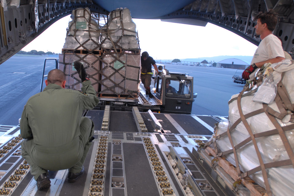 Humanitarian aid bound for tsunami relief effort