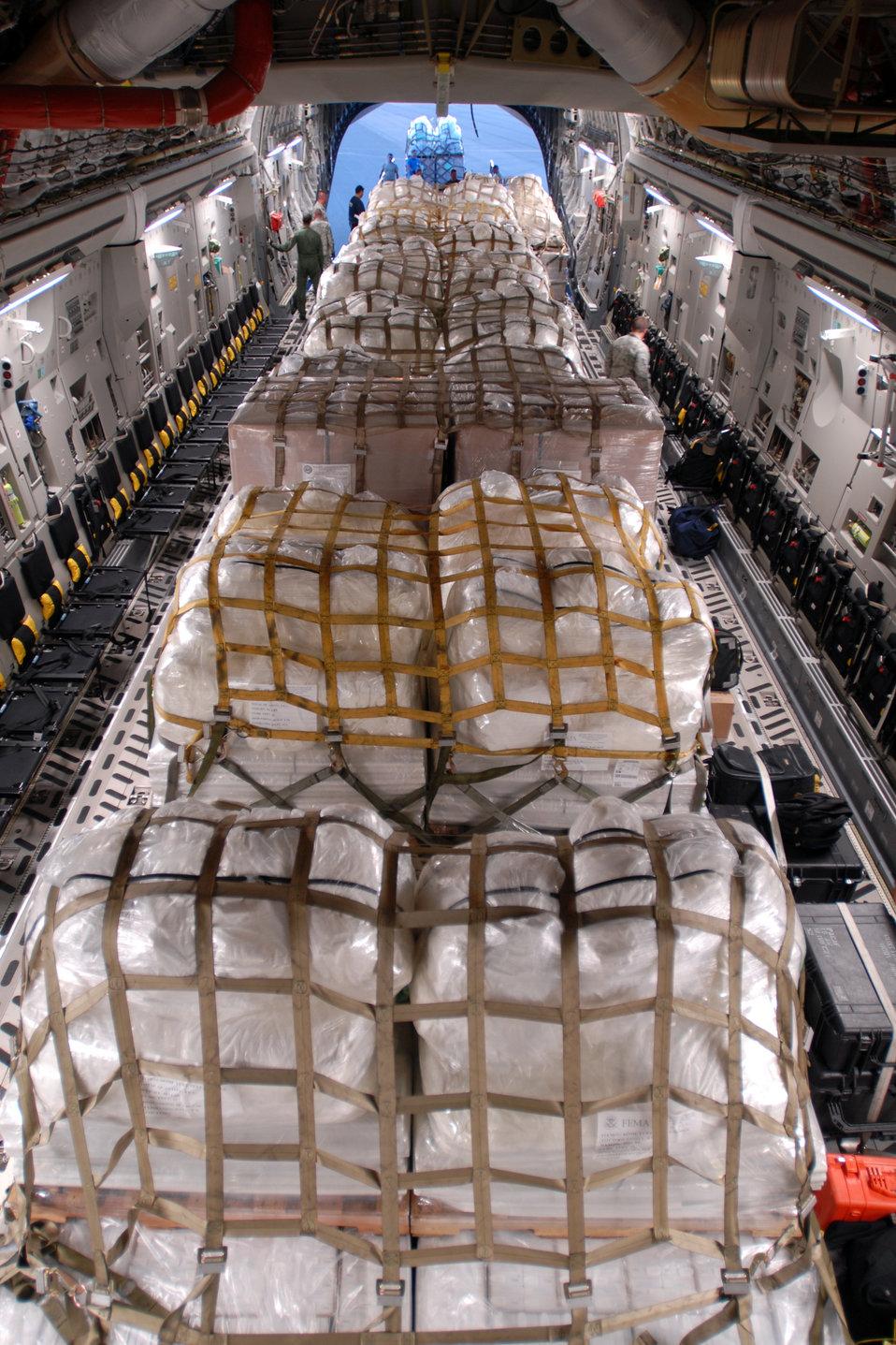 Humanitarian aid bound for tsunami relief effort