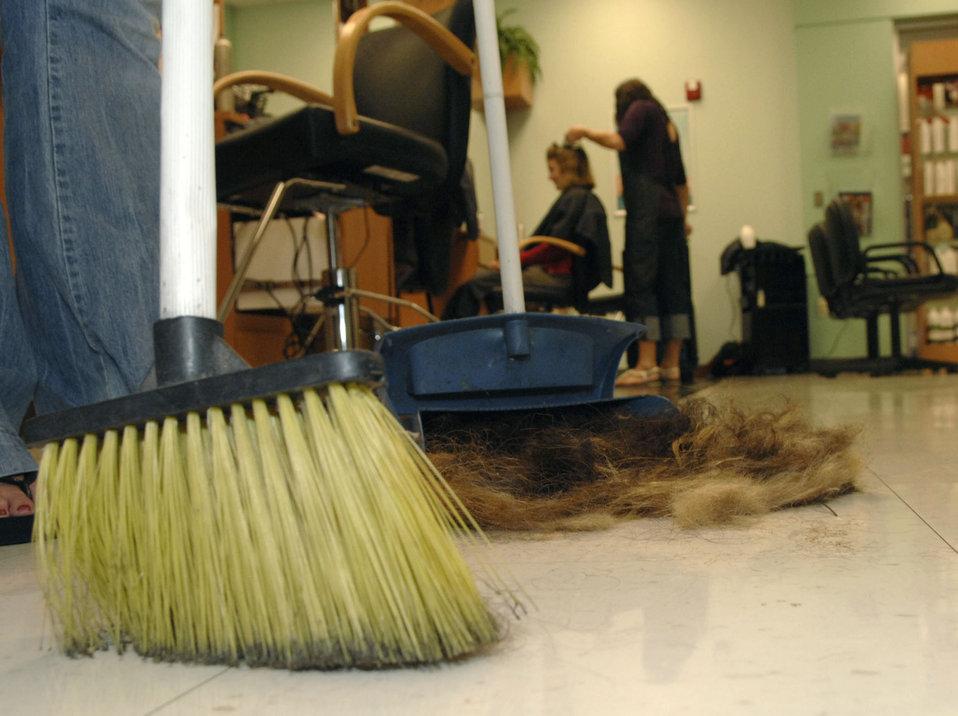 Base salon recycles hair