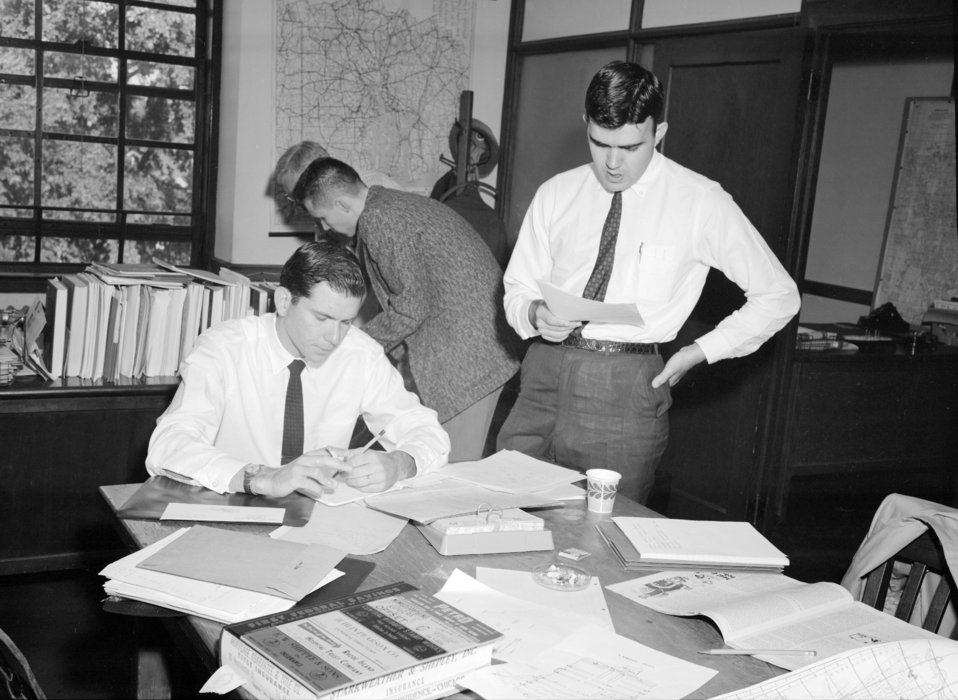 Officers from the Epidemic Intelligence Service, EIS, Polio Team, during the Rhode Island Polio Epidemic of the 1960s.