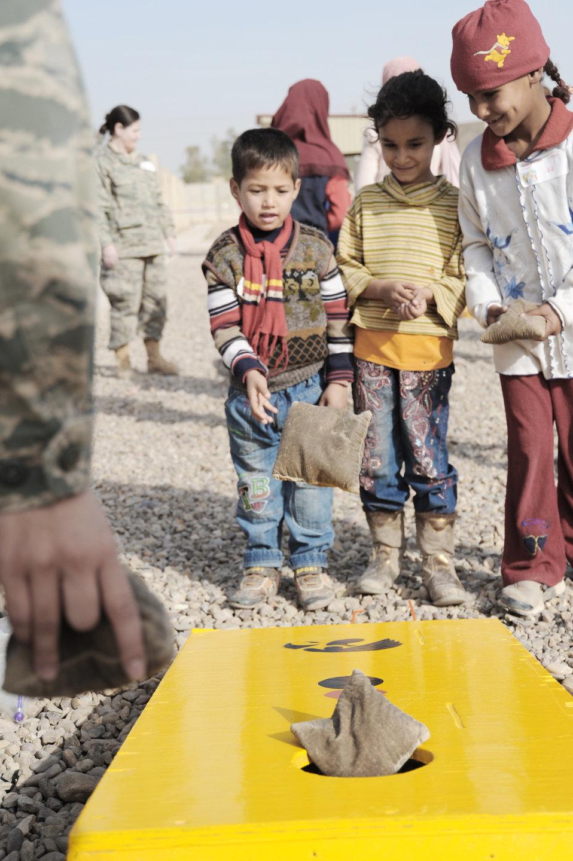 Iraqi kids, U.S. servicemembers enjoy another day of fun, education