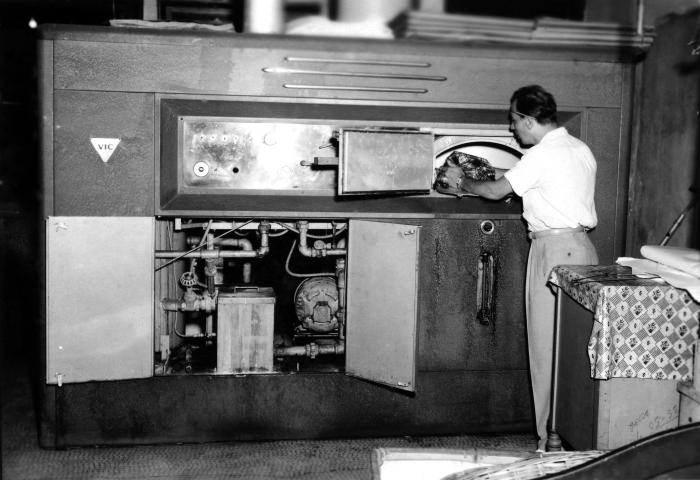 This 1950 historical photograph was provided by the Center for Disease Control's (CDC), National Institute for Occupational Safety and Healt