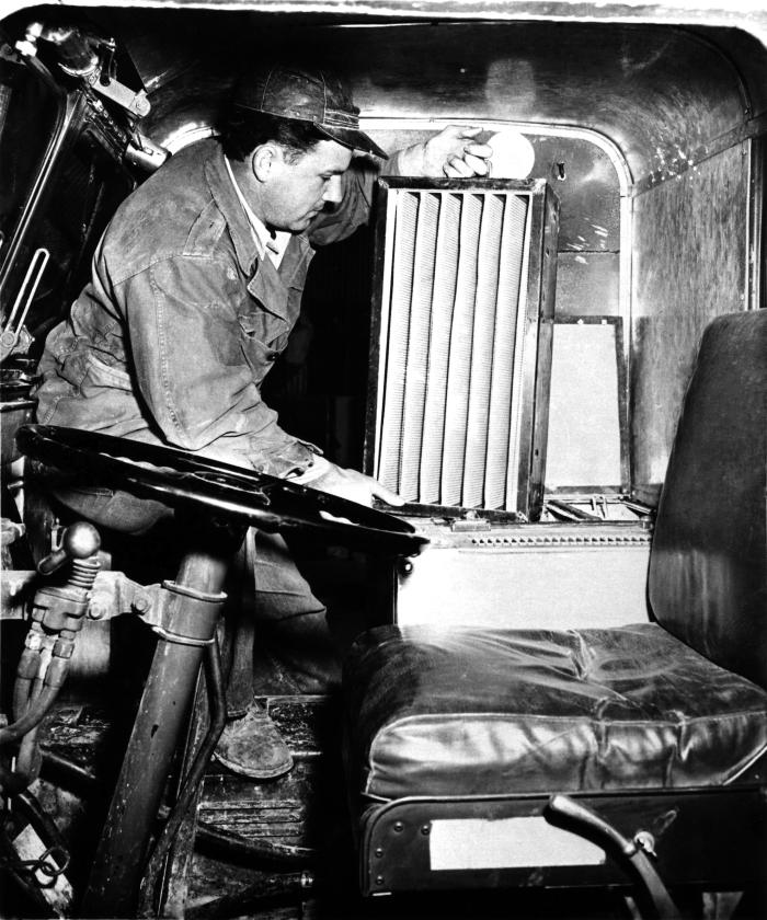 This 1958 historical photograph was provided by the Center for Disease Control's (CDC), National Institute for Occupational Safety and Healt