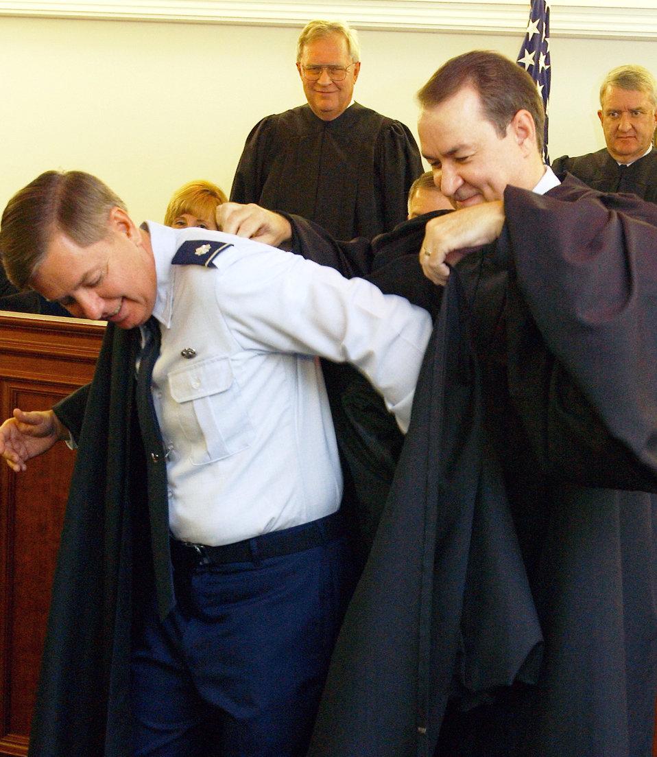 Senator becomes military judge
