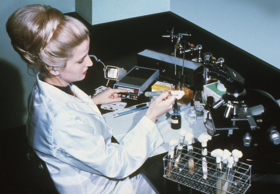 Public Domain Picture | This 1970 photograph shows CDC employee