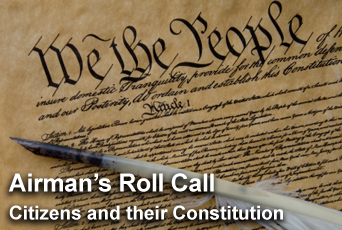Airman's Roll Call highlights Constitution, Citizenship Day