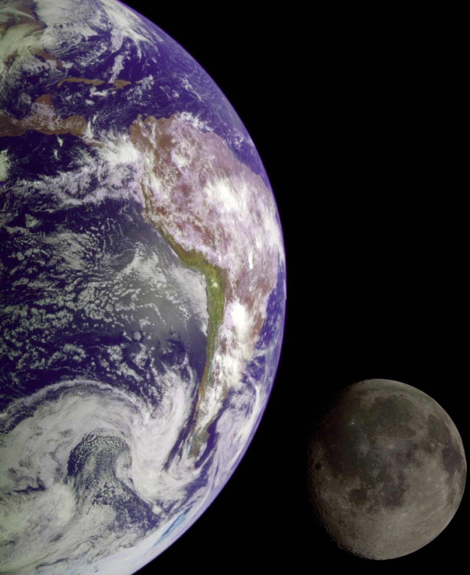 The Earth and Moon - NASA Great Images in Nasa Collection