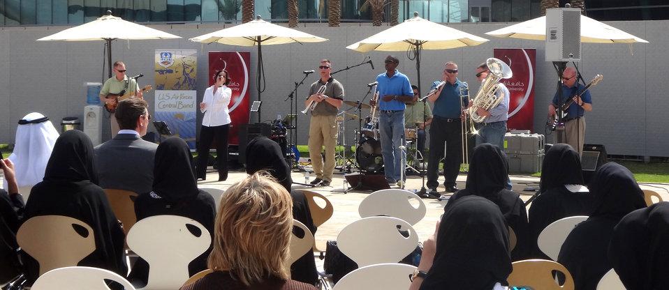 AFCENT band plays Abu Dhabi university