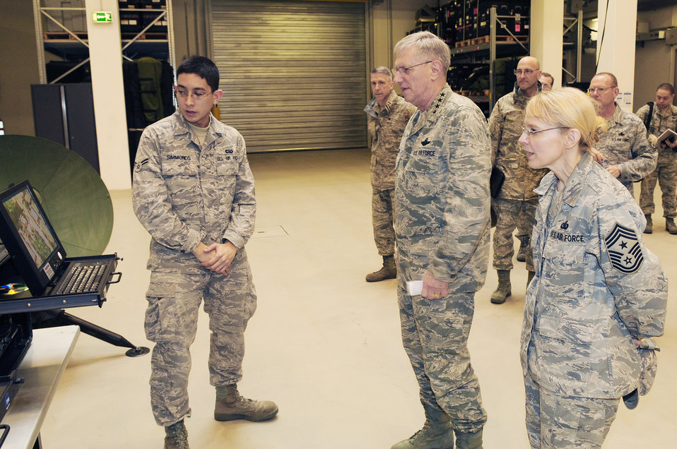 Visit to 435th Air Ground Operations Wing