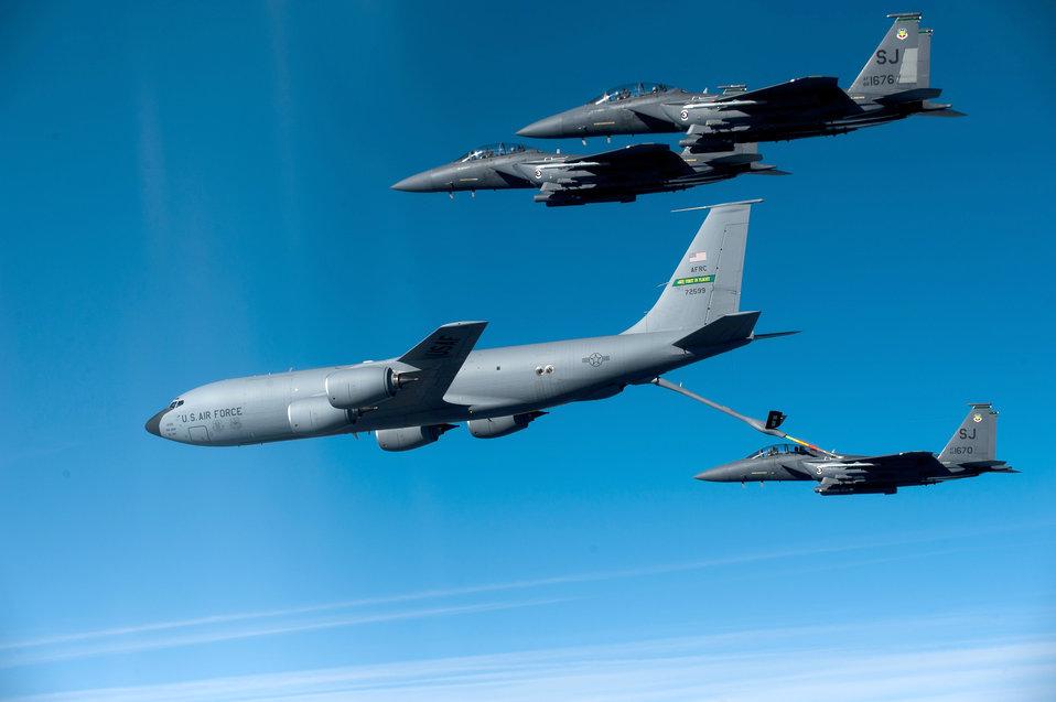 F-15s training mission