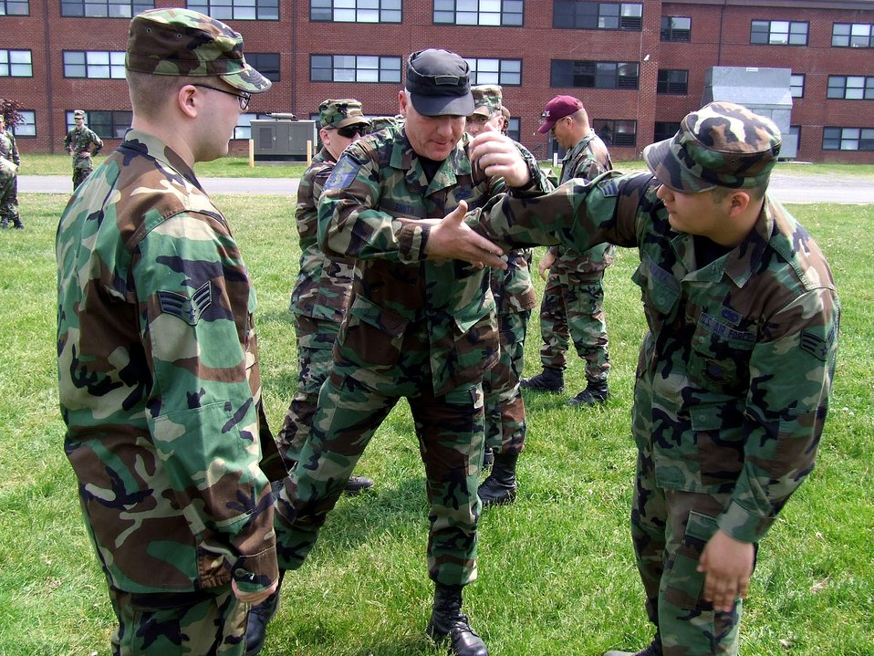 Self defense course kicks way into training