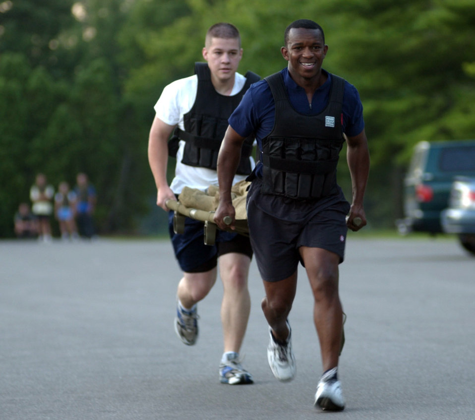 Airmen get in shape with boot camp aerobics