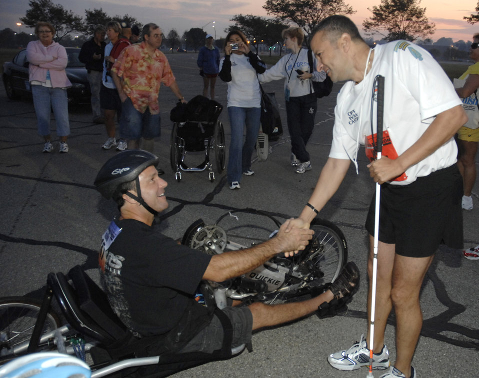 Disabilities don't stop marathoners