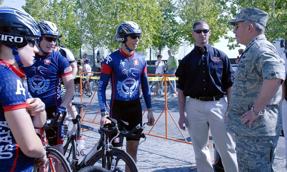 Air Force participates in pro cycling event