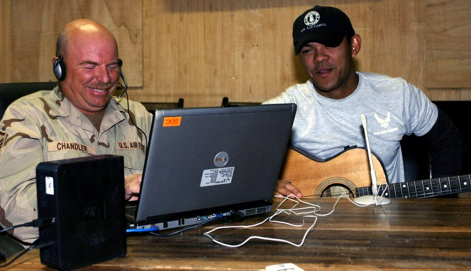 Bagram Airman uses music to bring families together