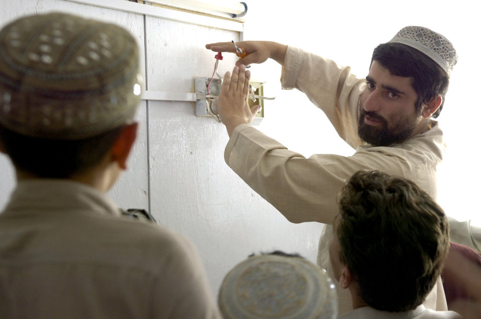 Airmen teach skills to Afghans to rebuild their country