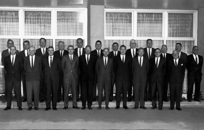 This 1966 photograph showed the staff members of Centers for Disease Control's Venereal Disease department, which was taken during the annua