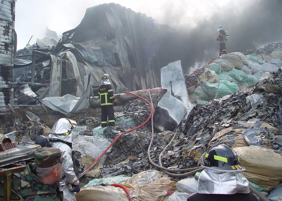 Kunsan firefighters assist local fire department