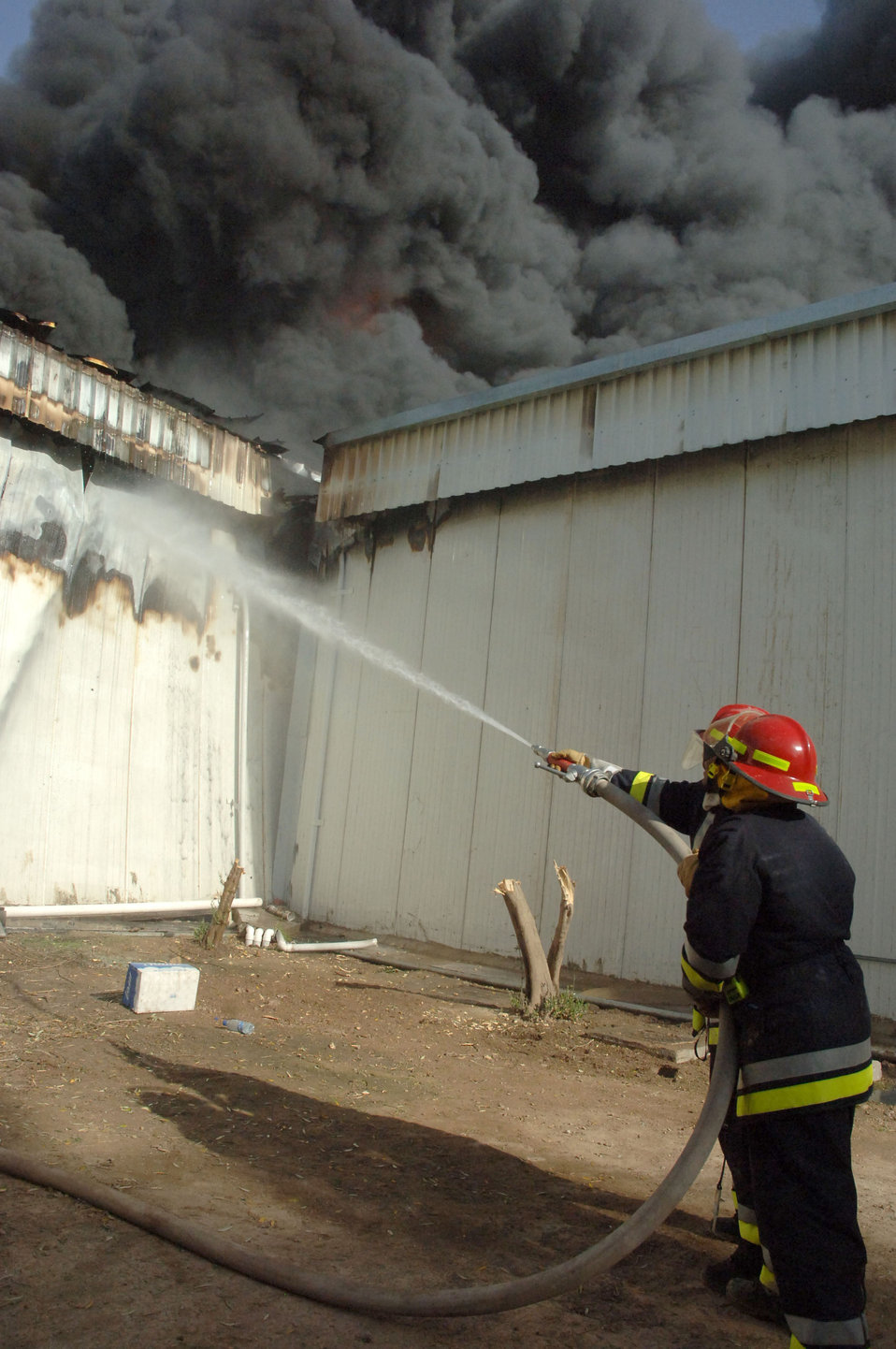 Five-alarm blaze