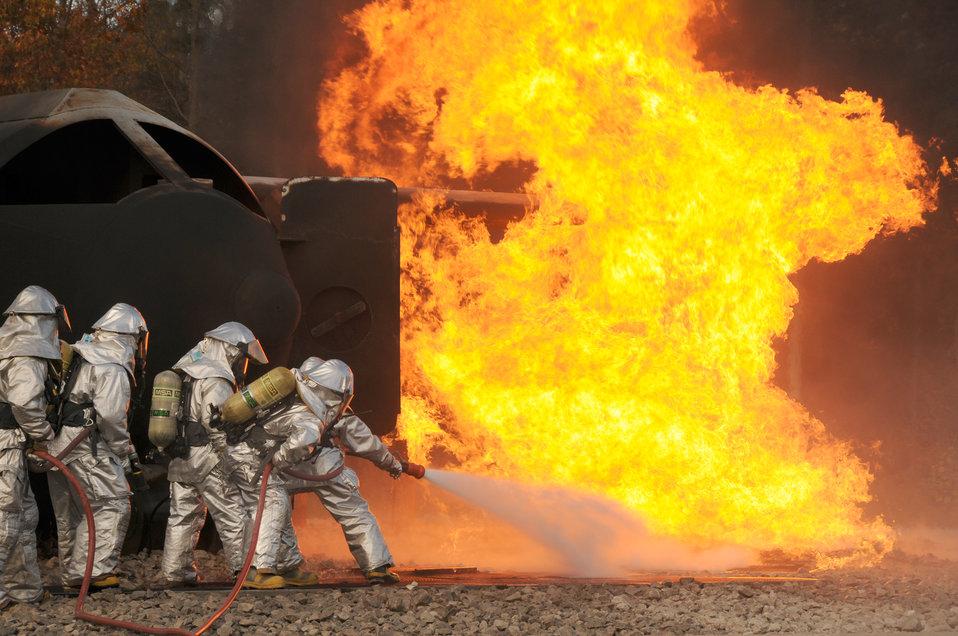 Firefighters sharpen their skills
