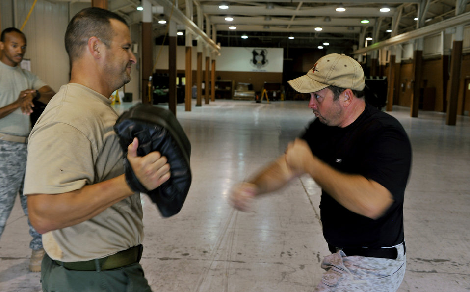 Airmen teach Krav Maga techniques to local law enforcers