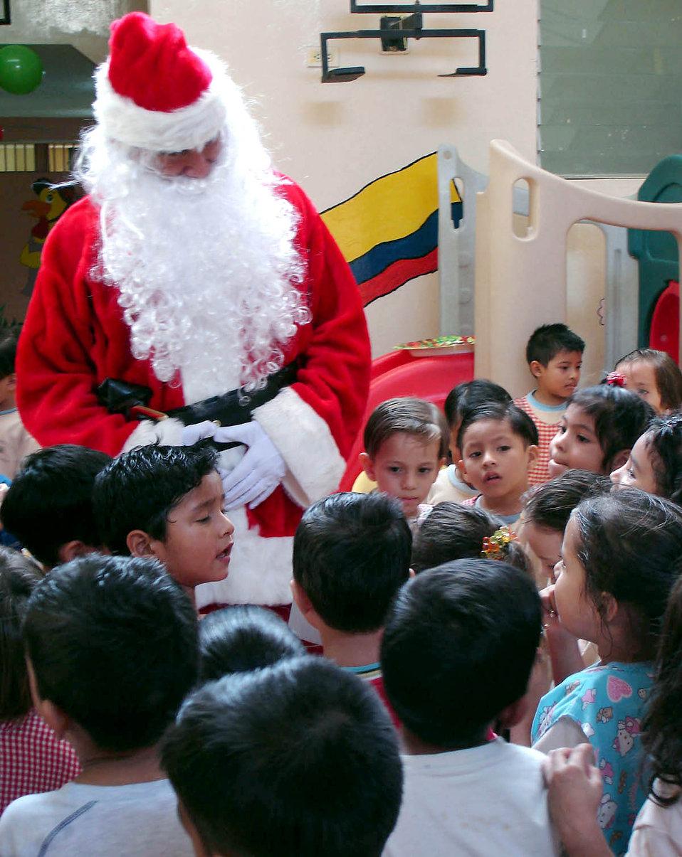Santa visits Ecuador