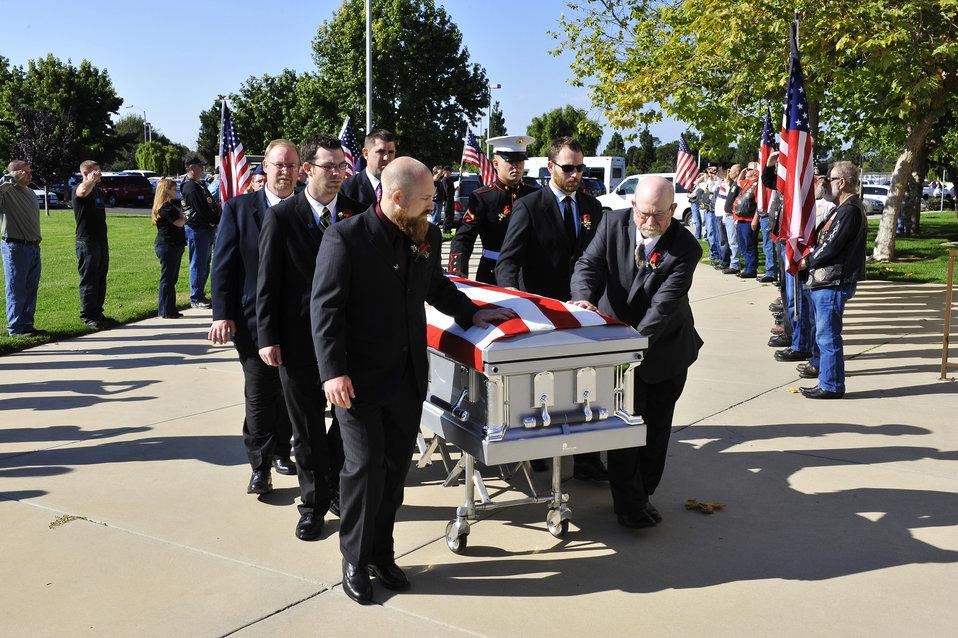 Memorial service for fallen Airman