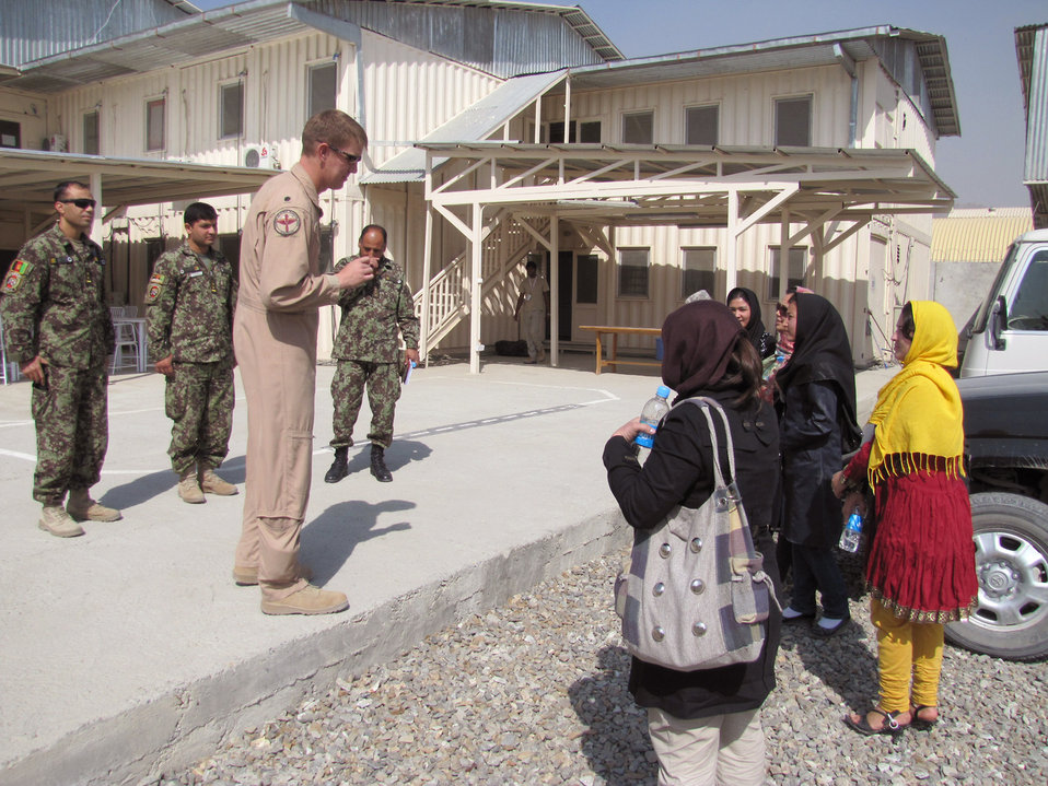 New Afghan air force female lieutenants arrive at the Thunder Lab