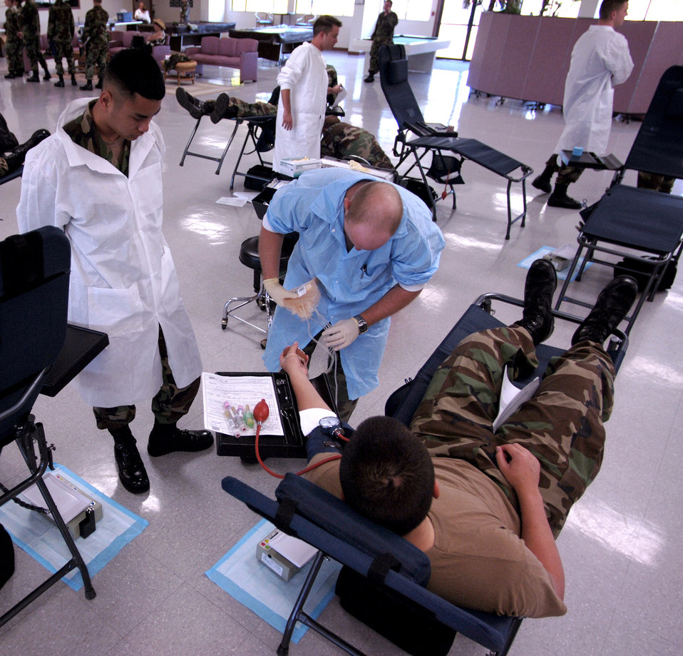 Donating time, blood
