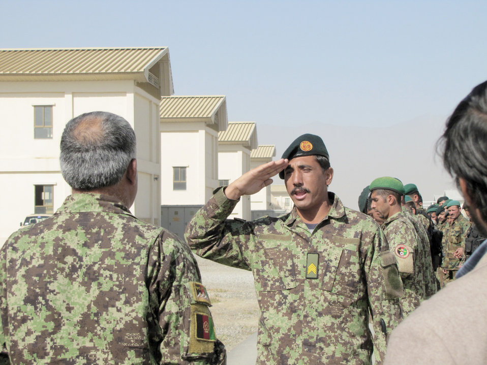 Afghan air force members attend fly-away security team training