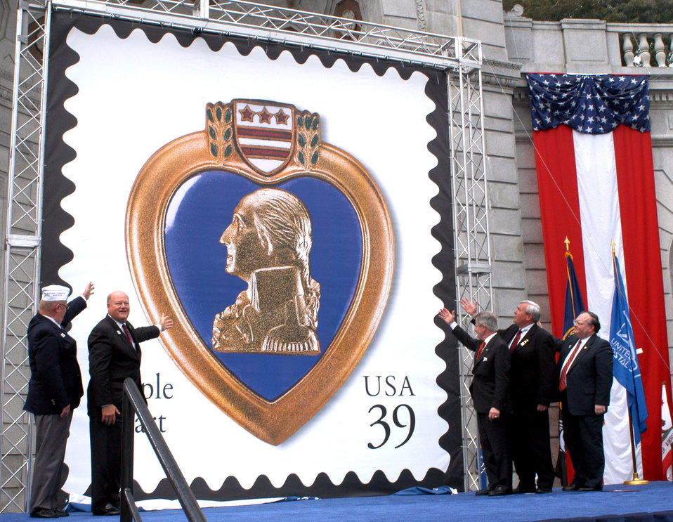 Postal Service reissues Purple Heart stamp