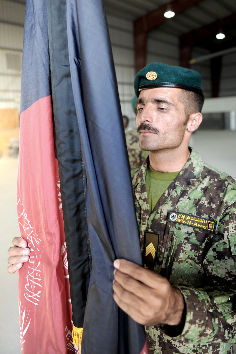 Afghan honor guard