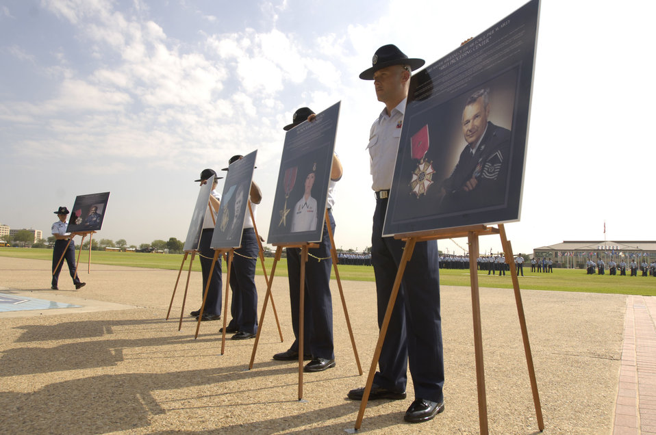 Lackland honors nine enlisted heroes