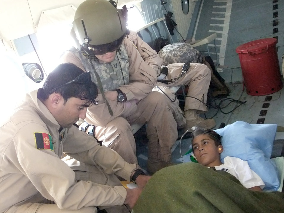 Flying the wounded home