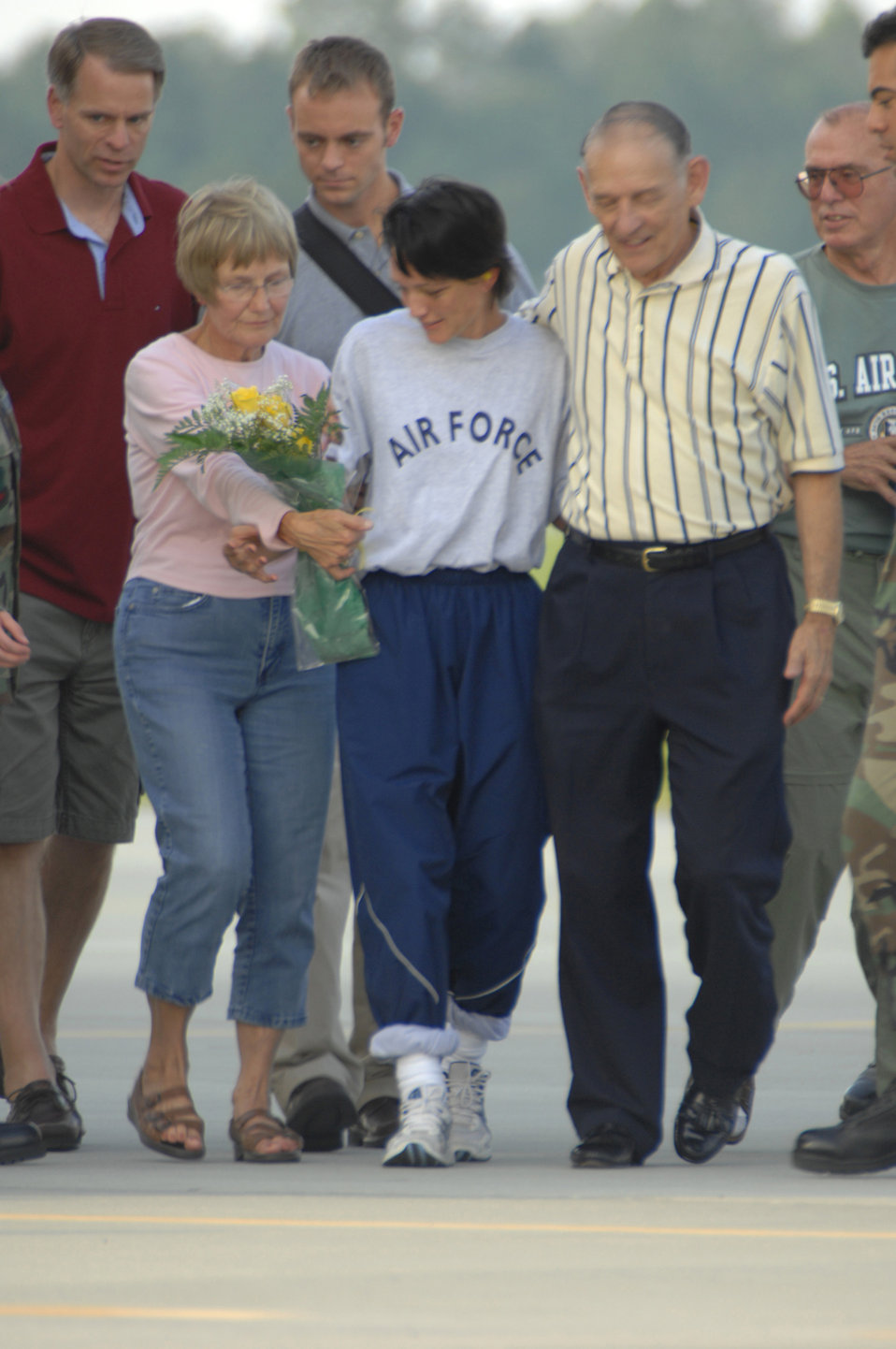 Major Jill Metzger arrives home
