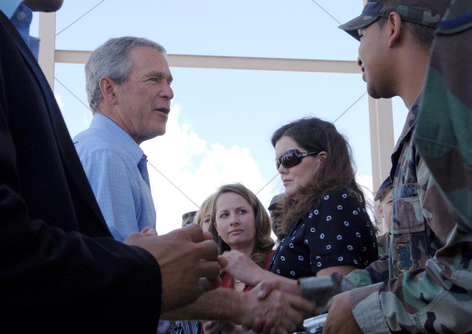 President Bush visits Keesler