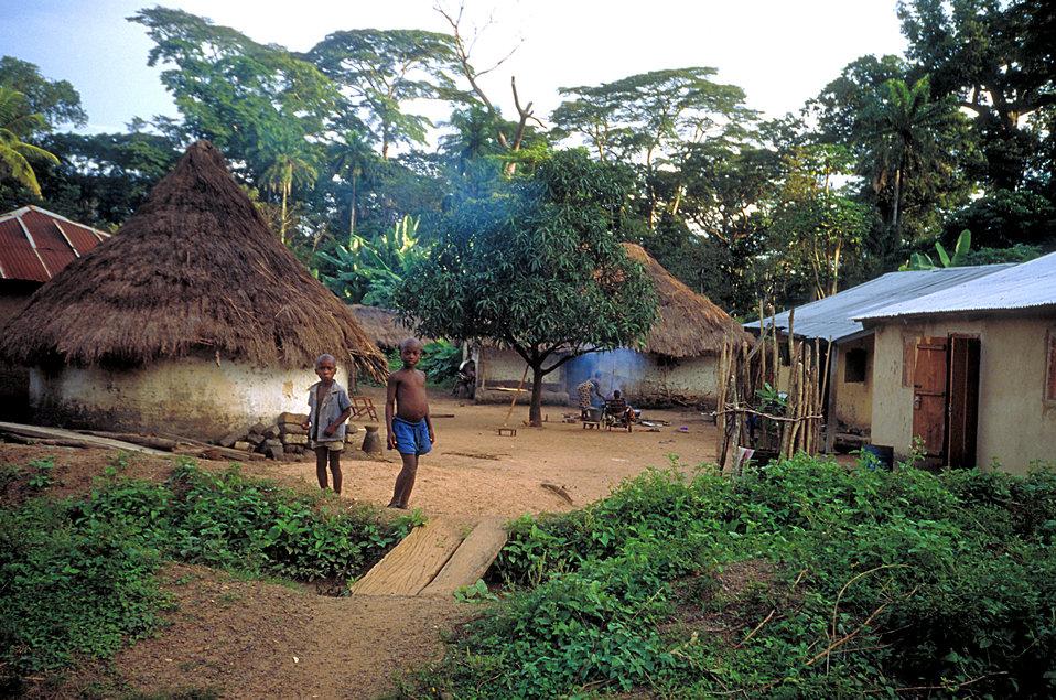 African village.