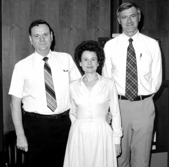 From left to right, this photograph showed Bill Griggs, Louise Griggs and, former CDC Director William H. Foege, M.D., M.P.H. William H. Foe