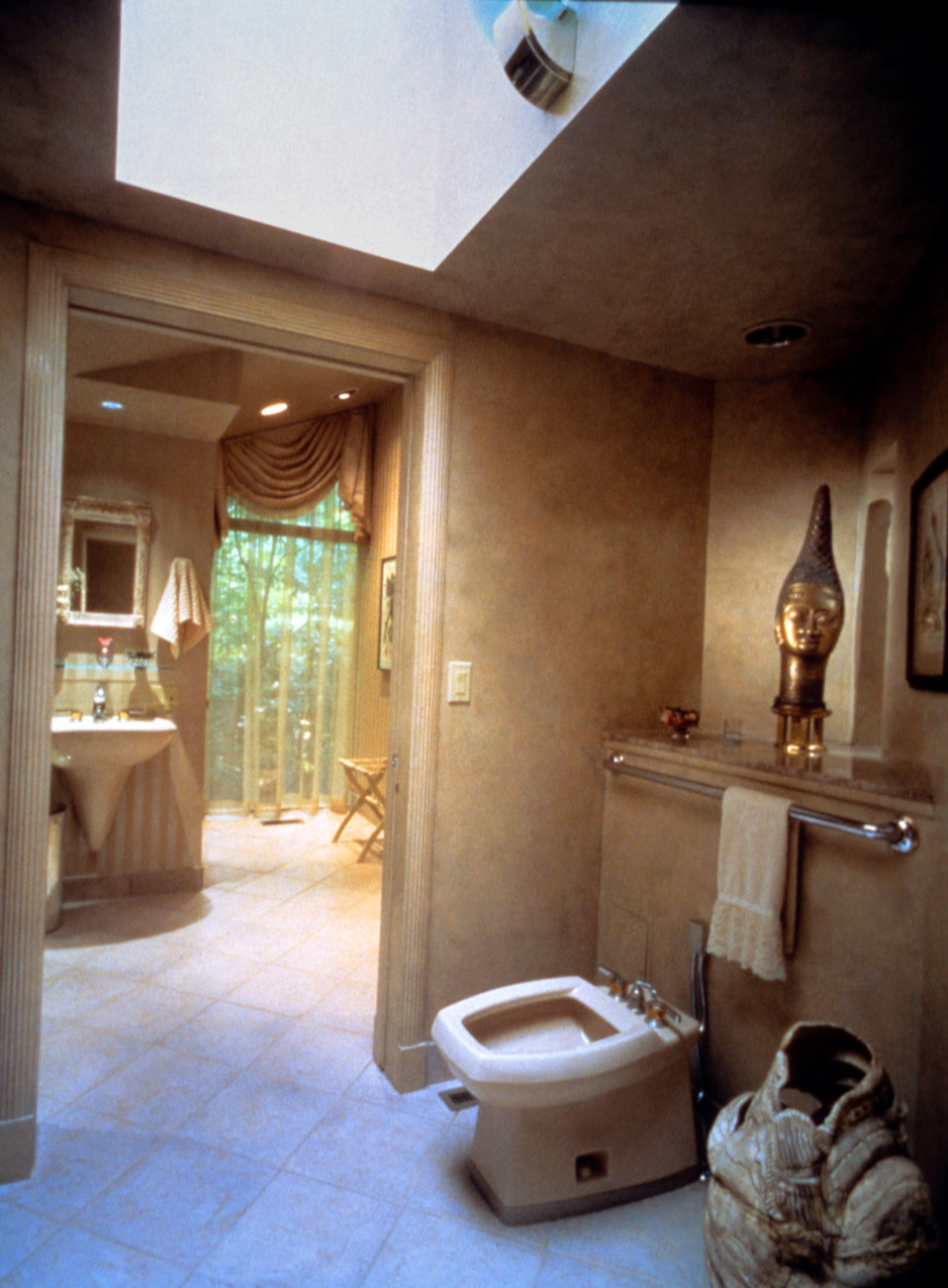 This was one of three images (PHIL# 9198 - 9200), depicting a modern high-end bathroom design, which took into account the needs of the mobi