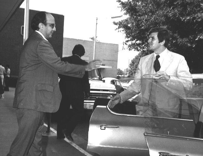 DHEW Secretary, F. David Mathews visits CDC.