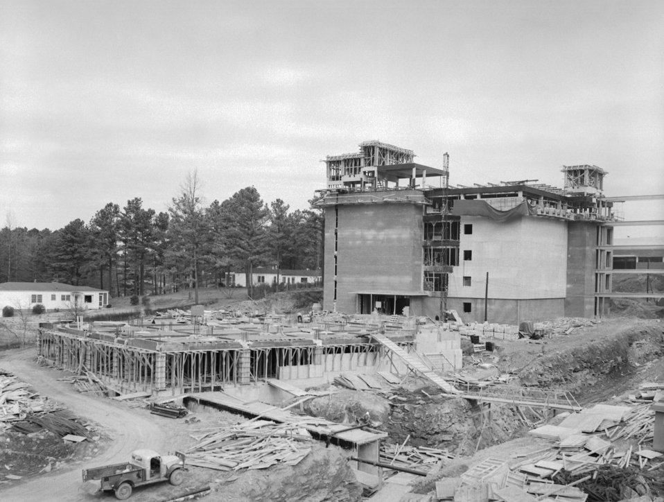 The CDC, Clifton Road, Atlanta, GA. campus under construction in 1959.