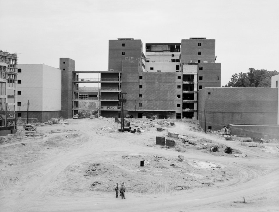 The CDC Clifton Road Roybal Campus, Atlanta, GA. while under construction in 1959.