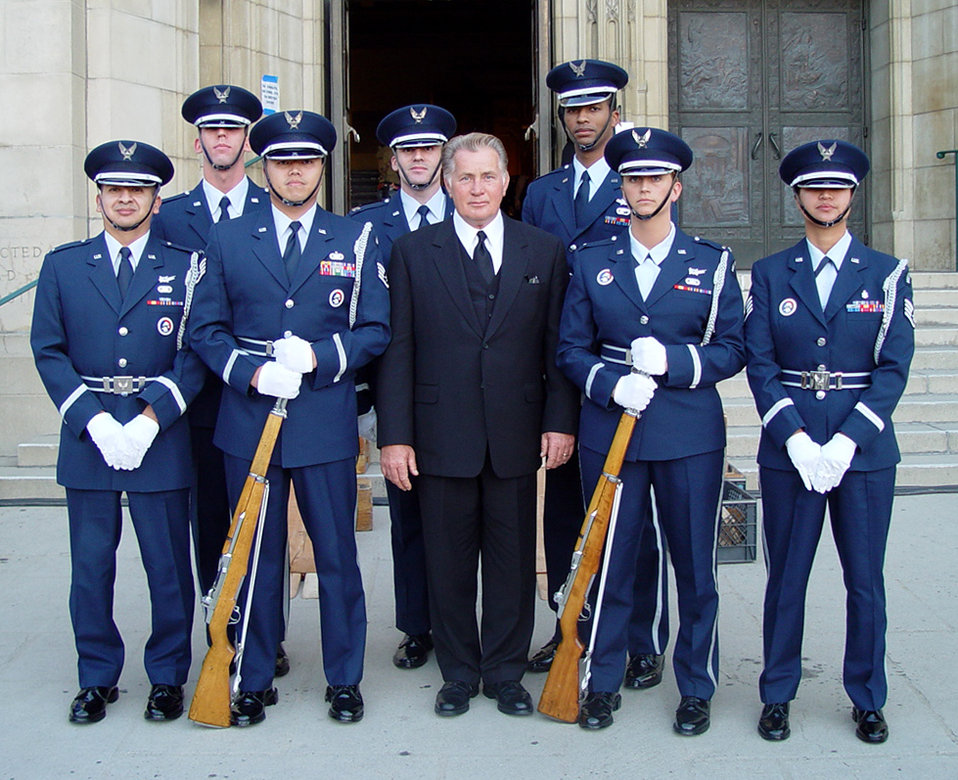 Honor guard goes Hollywood