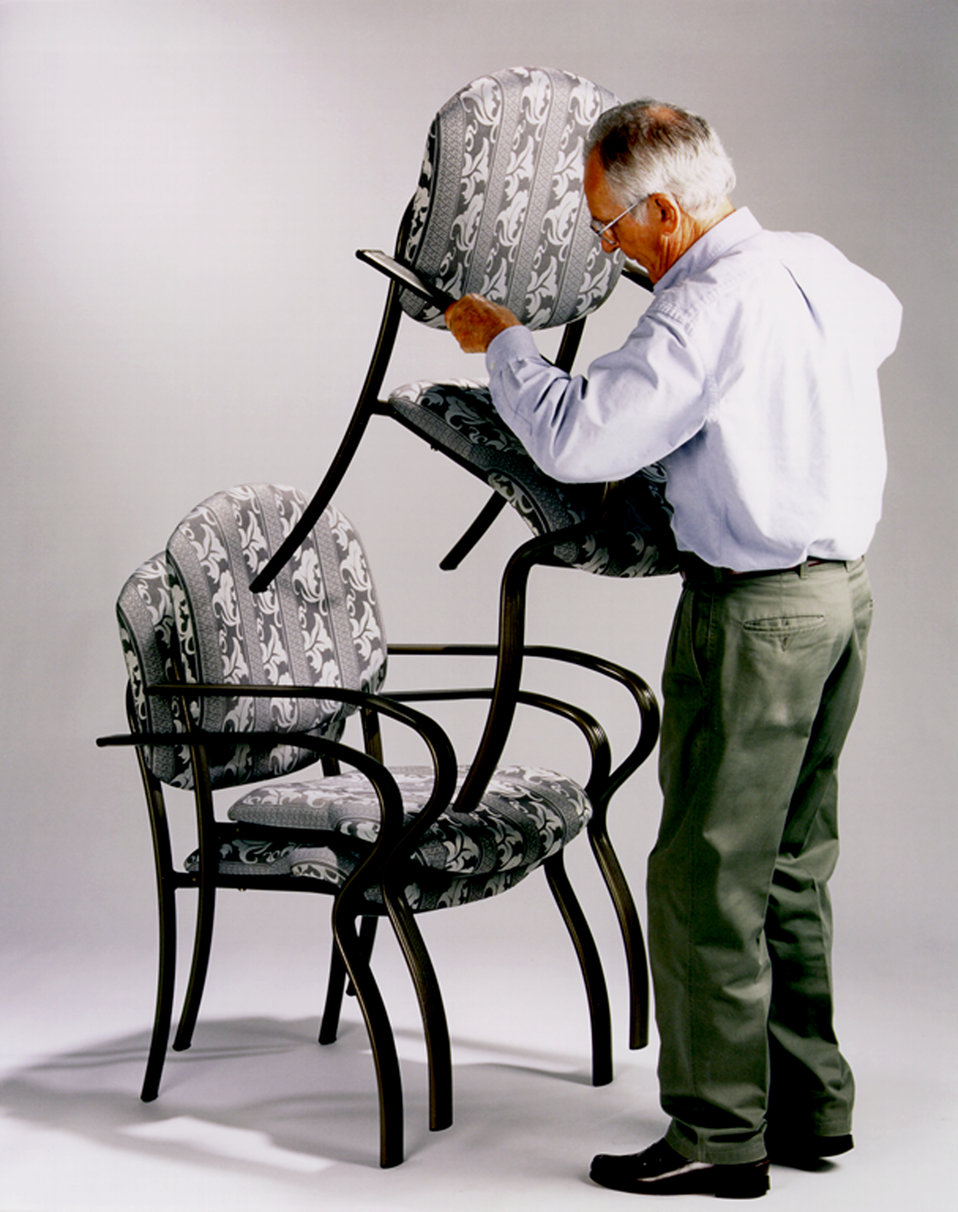 This is one of a series of ten images, (PHIL# 9144 - 9153), depicting one of LifeSpan� Furnishing's line of chairs, designed to make sitti