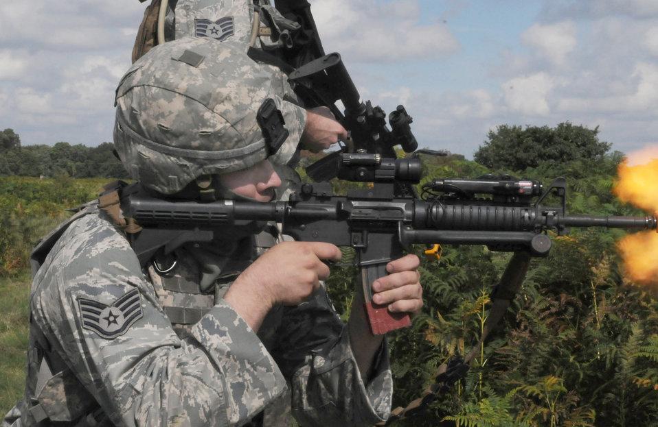 Security forces Airmen help prep RAF Regiment for Afghanistan tour