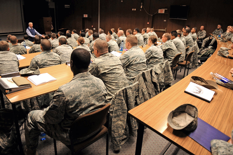 Former CMSAF offers Airmen words of wisdom