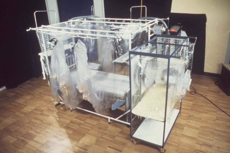 This 1977 photograph depicts a Vicker's Isolation Unit.