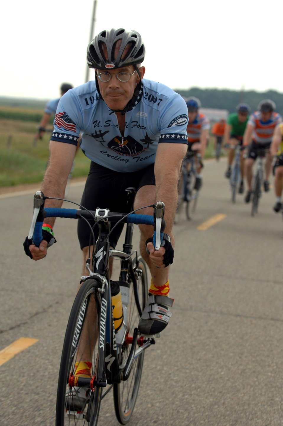 Airmen cycle across Iowa