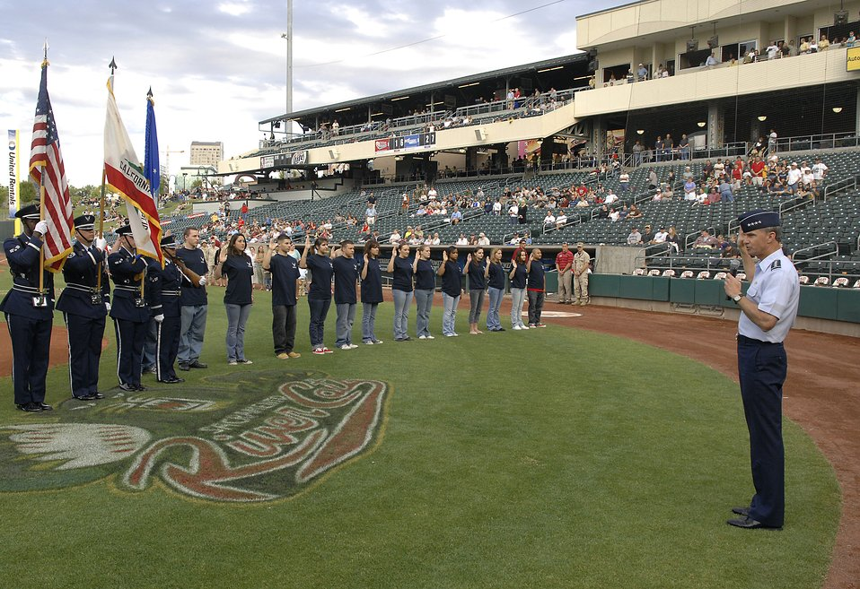 Sacramento Rivercats host Air Force Week event