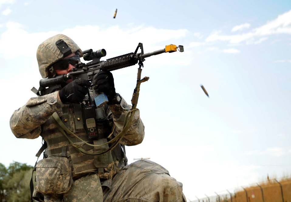 Security Forces Airmen take part in combat skills training